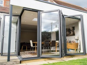 kitchen bi fold doors open