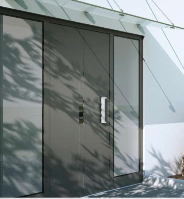 Aluminium Front Doors Boned Panel Amp Glazed Front Doors