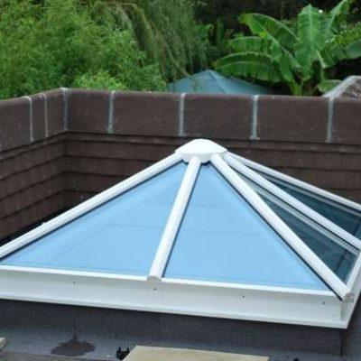 Aluminium framed pyramid rooflight