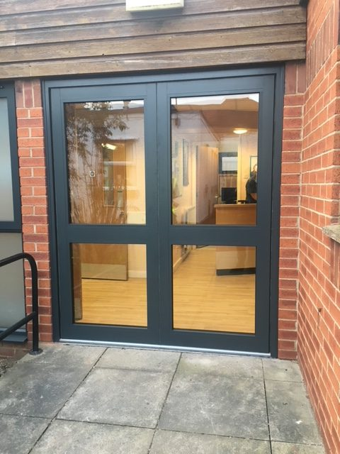 doors to hospital outpatients ward