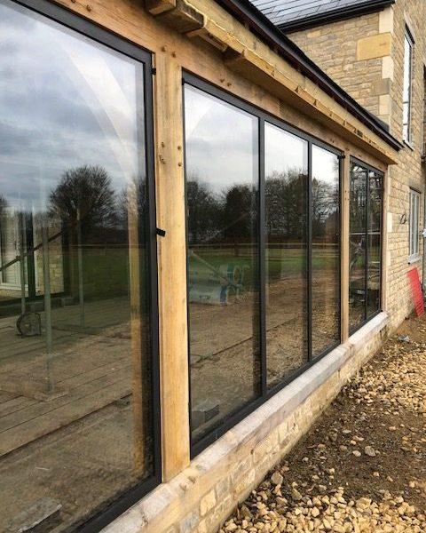 windows at barn conversion site