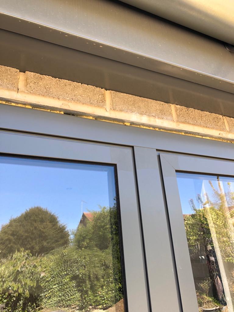 fascia board and window