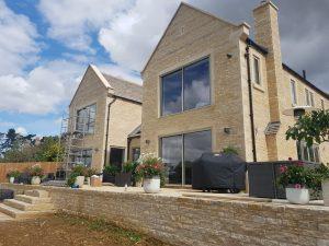 slimline sliding doors stone house